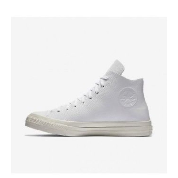 CONVERSE x NIKE ZOOM WHITE LEATHER HIGH TOPS
